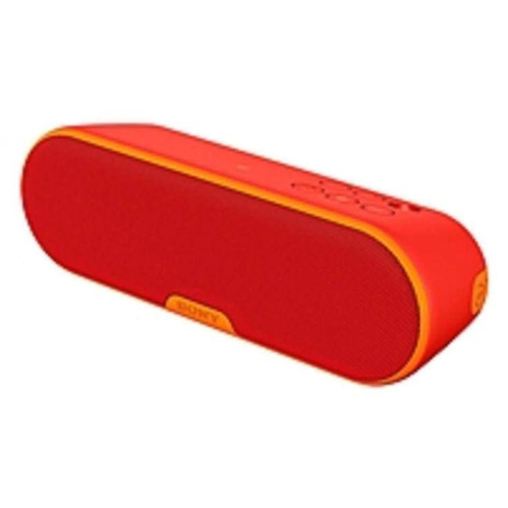 Sony SRS-XB2 Speaker System - Portable - Battery Rechargeable - Wireless Speaker(s) - Red - 20 Hz - 20 kHz - Wireless LAN - Bluetooth - Near Field Communication - USB - Advanced Audio Coding (AAC),