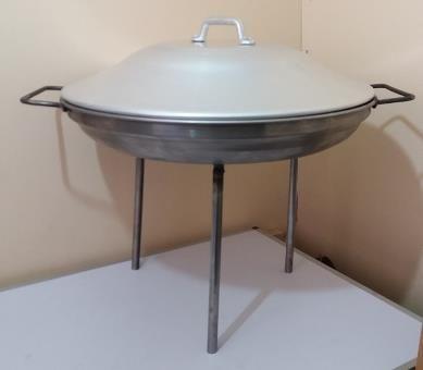Disco para Asados en fierro 52 cm con Tapa Aluminio 48,8 cm   www.losparrilleros.cl