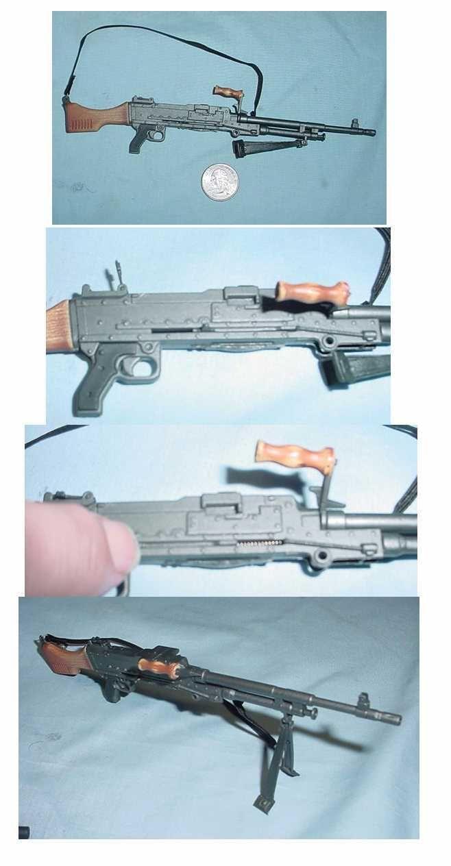 Miniature 1/6th Scale FN-MAG Machine Gun w/Bi-pod