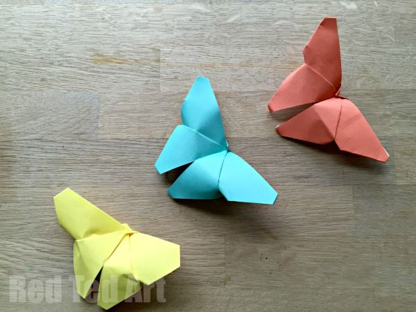 Origami Butterflies how to – easy paper butterflies for children to learn and get into paper crafts