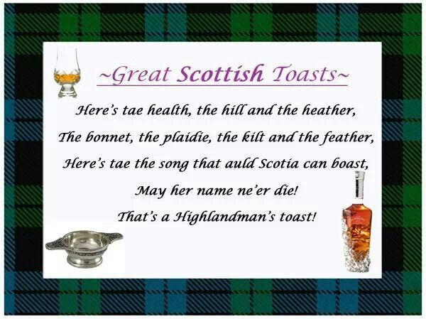 Great Scottish Toast Scottish Sayings Proverbs Poems