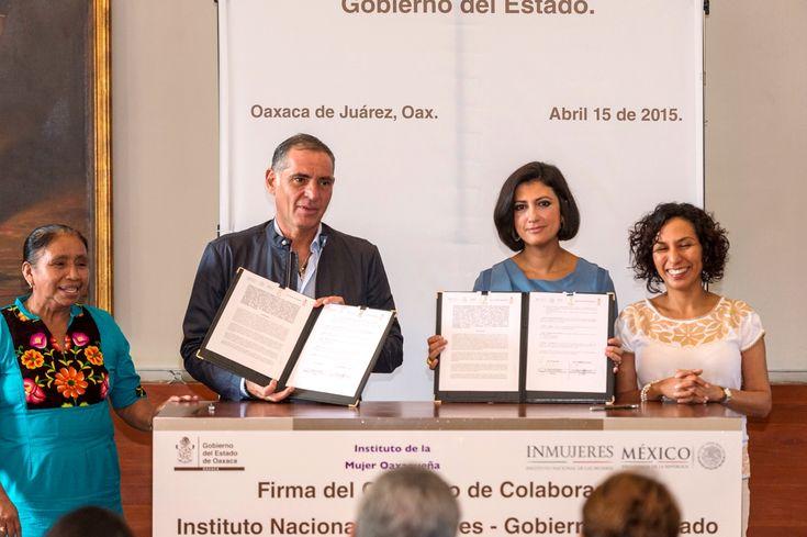 Convenio Inmujeres con Gobierno de Oaxaca - http://plenilunia.com/noticias-2/convenio-inmujeres-con-gobierno-de-oaxaca/34491/