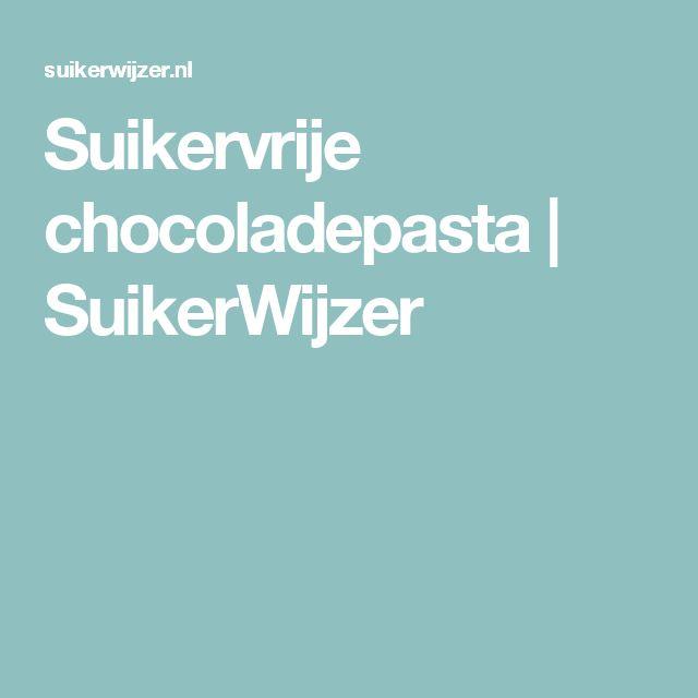 Suikervrije chocoladepasta | SuikerWijzer