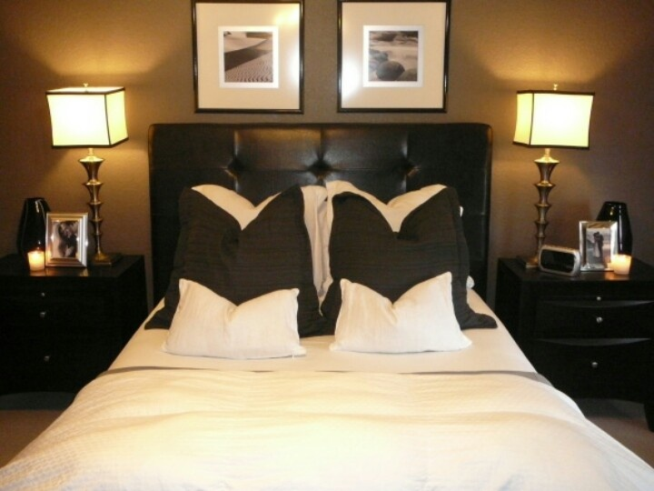 Brown cream bedroom interior spaces pinterest for Cream and brown bedroom designs