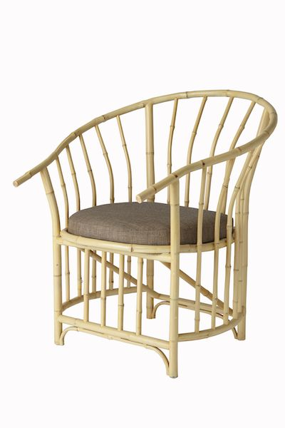 PALMA ARMCHAIR  Mahogany top with cendani bamboo details Size 1000 x 450 x 700 mm