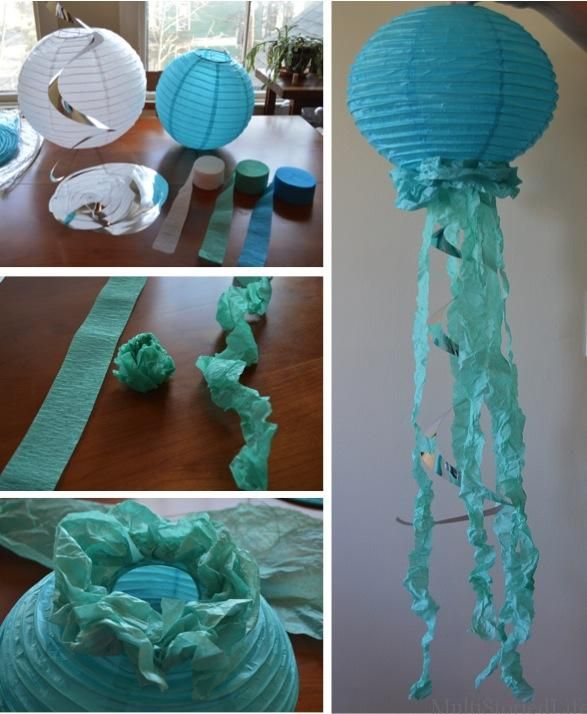 Paper Lantern Jellyfish For An Under The Sea Themed Baby