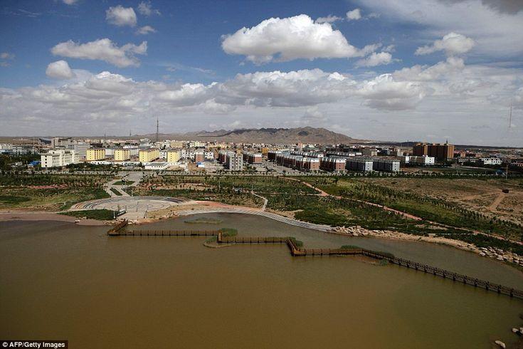 Competitors  travelled near Alashan in Inner Mongolia's Gobi Desert on their journey today