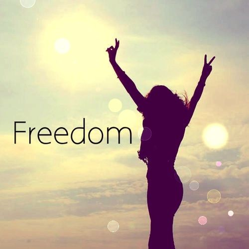 Freedom quotes sky bokeh girl peace outdoors clouds fun happy hipster freedom
