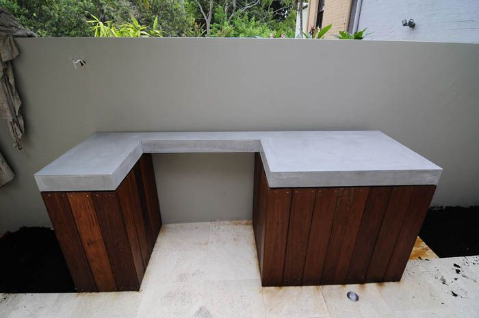 bbq concrete top