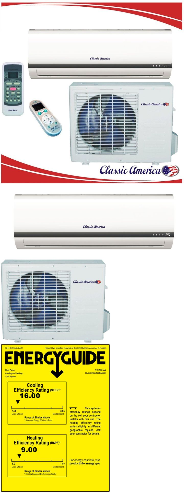 Air Conditioners 69202: 12000 Btu Ductless Mini Split Air Conditioner Heat Pump 1 Ton 16 Seer 12,000 Ac -> BUY IT NOW ONLY: $505 on eBay!