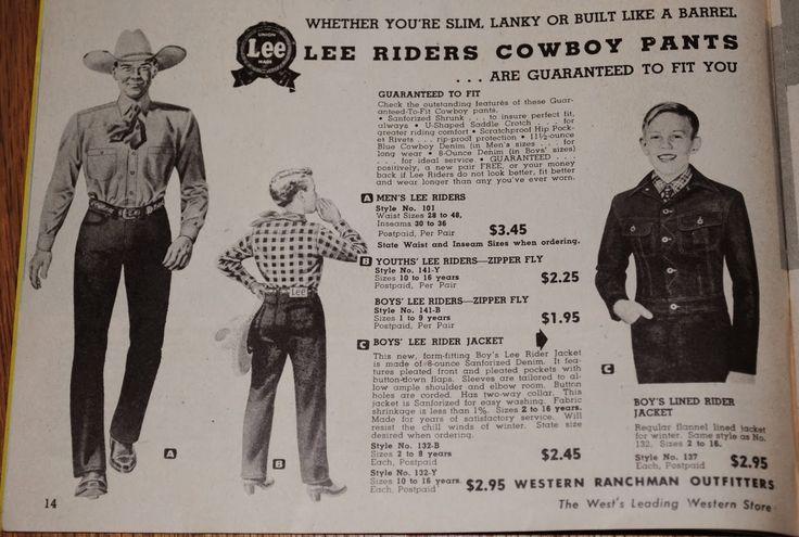 私のリーバイス: 1949年カウボーイ用品カタログからLee製品掲載箇所の紹介・説明