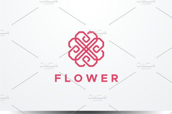 Abstract Flower Logo by yopie on @creativemarket