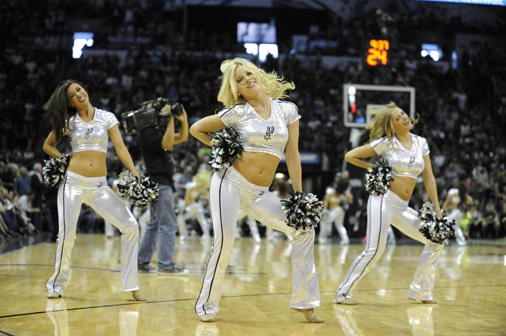 May 4, 2014; San Antonio, TX, USA; The San Antonio Spurs Silver Dancers perform against the Dallas Mavericks in game seven of the first round of the 2014 NBA Playoffs at AT&T Center. San Antonio beat Dallas 119-96. (Brendan Maloney-USA TODAY Sports)