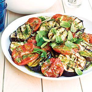 Grilled Eggplant and Tomato Salad Recipe | MyRecipes.com