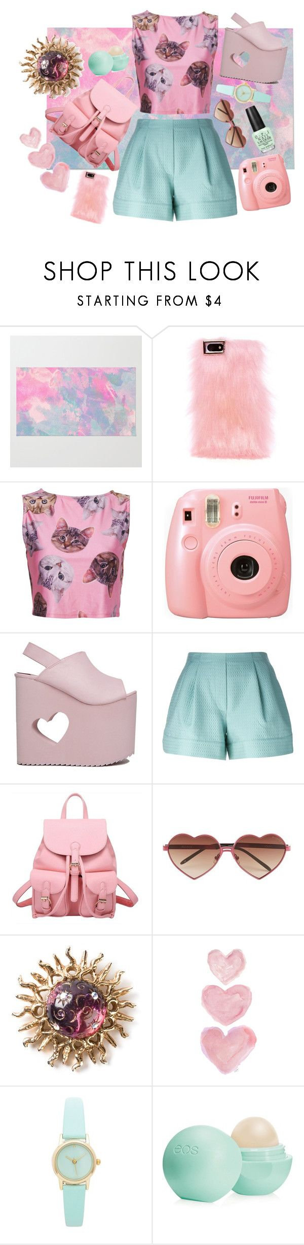 """""""Untitled #4"""" by idaho2 ❤ liked on Polyvore featuring Skinnydip, Fujifilm, Nikki Lipstick, 3.1 Phillip Lim, Wildfox, Claire Deve, Shabby Chic, Eos and OPI"""