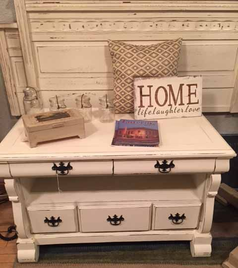 Items For Sale Coffee Table Or Tv Stand Painted In Old White Chalk Paint Reborn Furniture