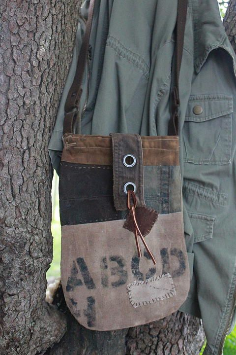 cinnamon creek dry goods | ABC patch bag....12 x 8 ~ 42-