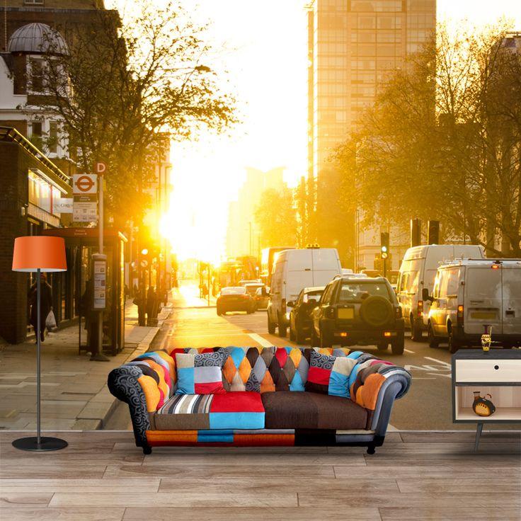 Fotobehang Ochtend in Londen | Maak het jezelf eenvoudig en bestel fotobehang voorzien van een lijmlaag bij YouPri om zo gemakkelijk jouw woonruimte een nieuwe stijl te geven. Voor het behangen heb je alleen water nodig!   #behang #fotobehang #print #opdruk #afbeelding #diy #behangen #ochtend #zon #londen #london #verkeer #stad #engeland #grootbrittannie #verenigdkoningkrijk #engels #brexit