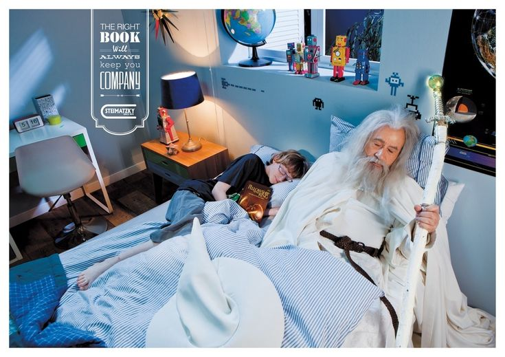 The Fellowship Of The Ring | New Bookstore Ads Capture The Magic Of Reading...be careful what you read in bed...you never know who will be joining you. Hahaha