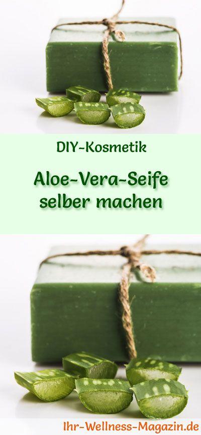 Aloe Vera Kosmetik selber machen - Rezept für selbst gemachte Aloe Vera Seife zur Hautpflege - spendet viel Feuchtigkeit, mit rückfettendem Olivenöl ...