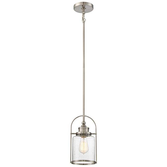 Quoizel Payson 6 1 2 Wide Brushed Nickel Mini Pendant 20p92 Lamps Plus In 2020 Mini Pendant Lights Lantern Pendant Lighting Brushed Nickel Pendant Lights