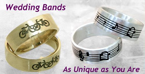 Made to order makes it personal. Order Now  14kt Gold Bicycles ring $635. Sterling Silver Choose Your Own Music Rings $215 http://www.vivacejewelrycompany.com/word-symbols-music/