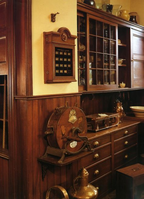 Remodeled butlers pantry  Ok I don't know what some of these things are but I love the look