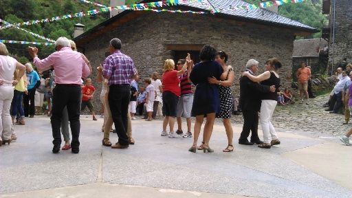 Look out for village fetes/fiestas during the summer. They're great fun - as long as you have not worn yourself out with the day's trek. This one, held in early August, is at the village of Tavascan at the Head of the Vall de Cardos in the Spanish Pyrenees. It has a wonderful atmosphere. Blog & book www.trekthepyrenees.com