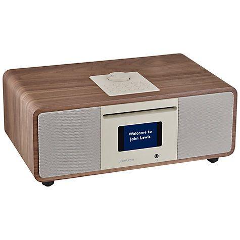 Buy John Lewis Cello Hi-Fi Music System with DAB/DAB+/FM/Internet Radio, CD Player, Wi-Fi & Bluetooth, Walnut Online at johnlewis.com