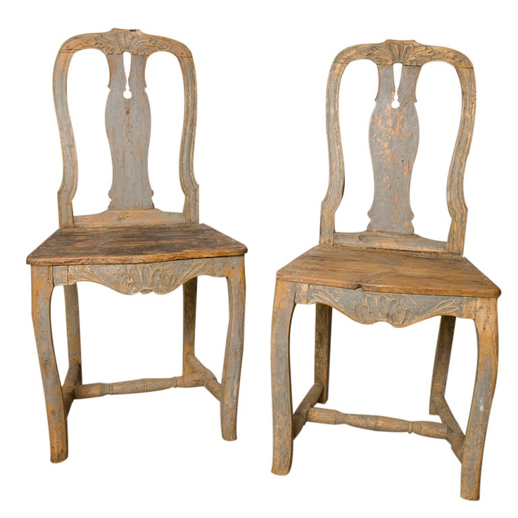 sweden gustavian painted wood dining chairs set of 2 1800s h37sh18