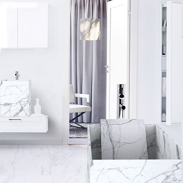 Marmi Serafini - Entity Square medium      an essential and minimalist line of product suitable for any ambient and style   countertop washbasin with foldway drainpipe   marble statuario   www.marmiserafini.it