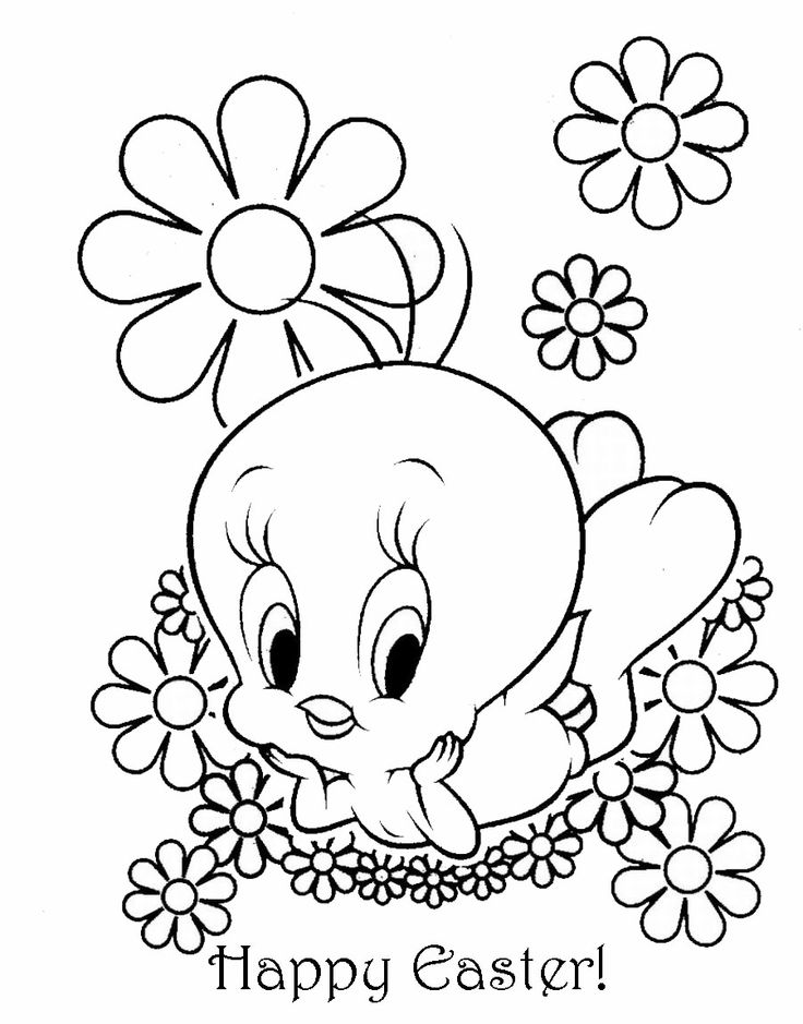 EASTER COLOURING TWEETY PIE EASTER COLOURING Easter