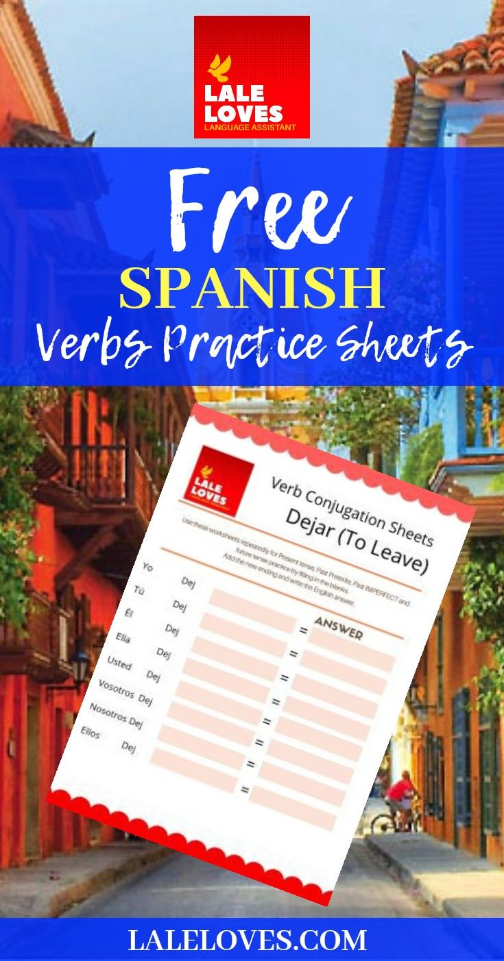 Free Spanish Verb Practice Worksheets Spanish Verbs Verb Practice Learning Spanish [ 1402 x 735 Pixel ]