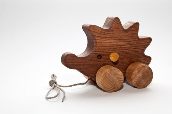 Wooden toy Hedgehog, Pull Along Toy, Birthday gift, Christmas gift, Gifts for Kids, Gifts for Babies, Baby Shower gifts