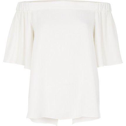 White bardot top $50.00