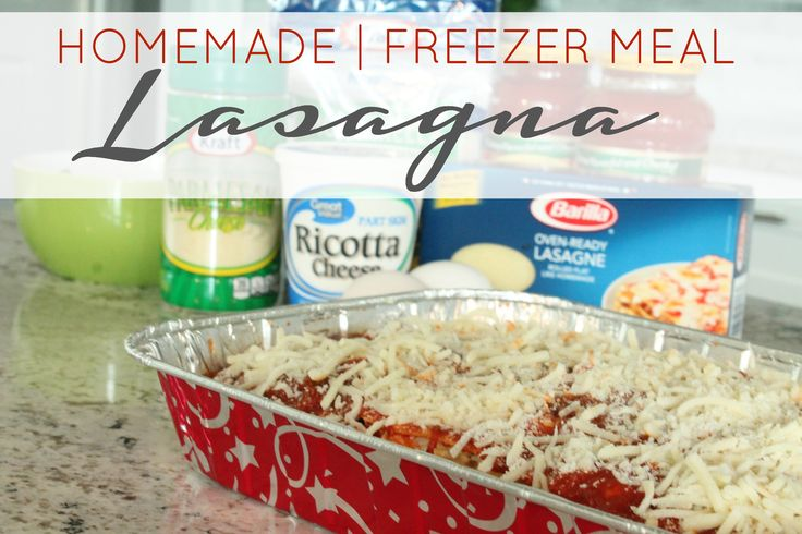 One of my favorite Freezer Meal Recipes is Homemade Lasagna! I love making this Homemade Freezer Lasagna Recipe when I have a few extra minutes and then it's ready to go on a busy night.