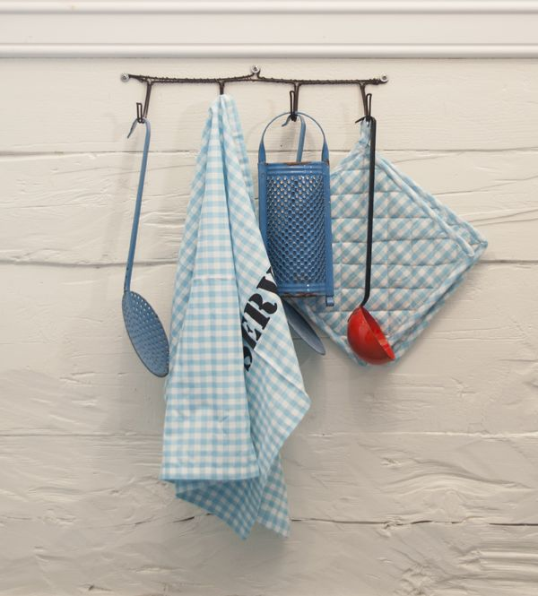 Kitchen towel and potholders