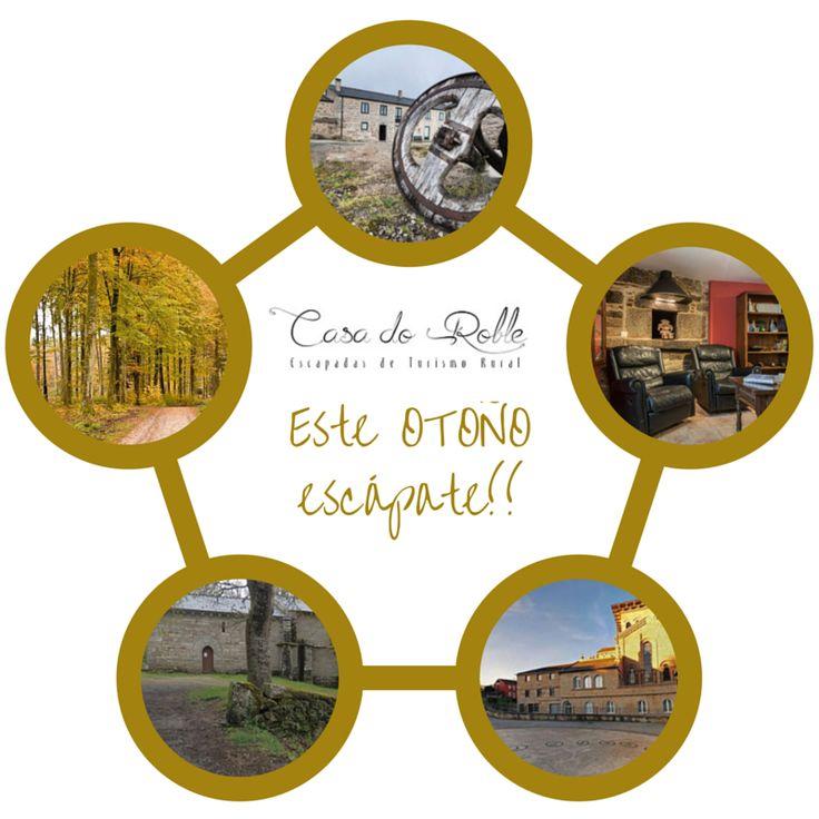¡Ven a conocernos!   Estamos rodeados de lugares preciosos en otoño!  http://www.casadoroble.com/   #casarural #Guitiriz