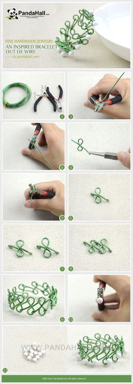 Jewelry Making Tutorial--DIY An Inspired Bracelet with Wire and Beads | PandaHall Beads Jewelry Blog