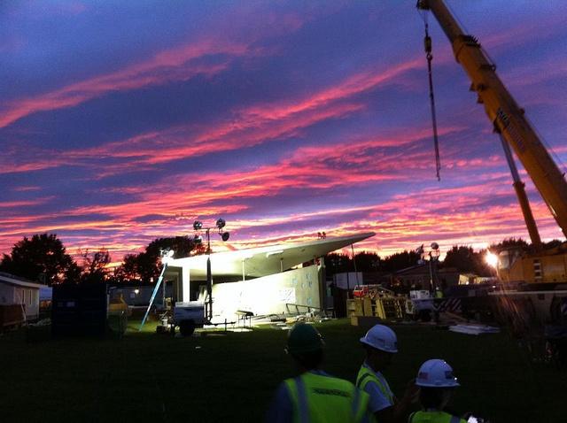 construction_sunset by ENJOY House - Team NJ, Solar Decathlon 2011, via Flickr