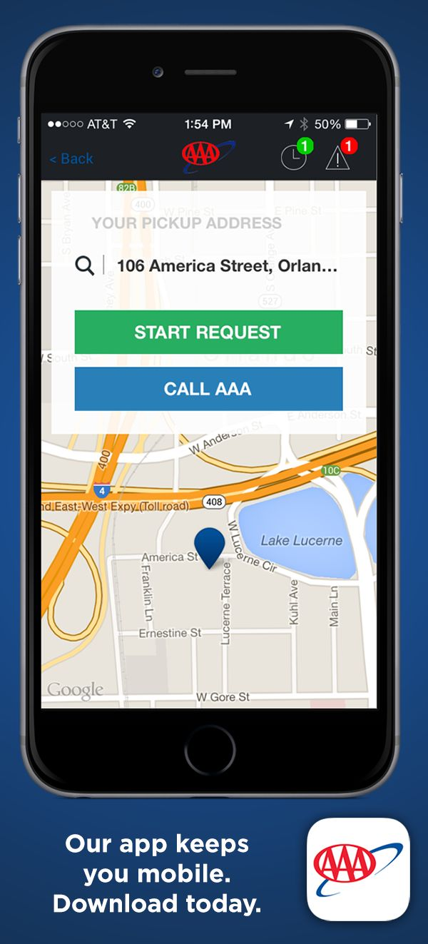 AAA Mobile combines mapping, roadside service functionality, member discounts and access to AAA's member services in one easy-to-use app. Our app keeps you mobile. Download today.