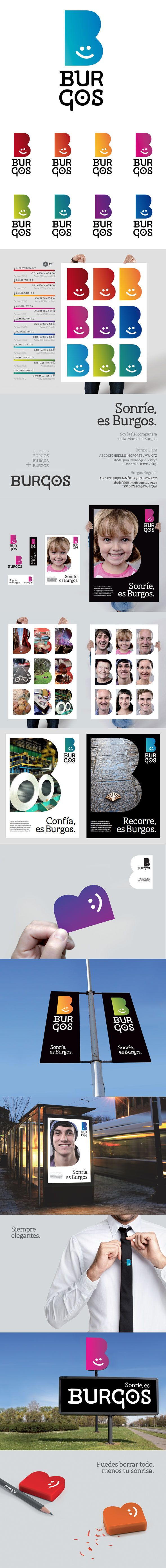 Identity for Burgos, Spain, city brand 2012, Via moirestudiosjkt a thriving website and graphic design studio.