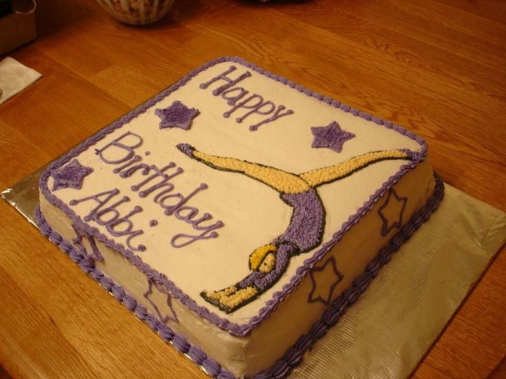 Gymnastics Birthday Cake  on Cake Central