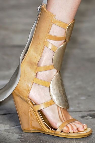 The Spring 2013 Accessories Report - Roman Holiday - Rick Owens #GLAM