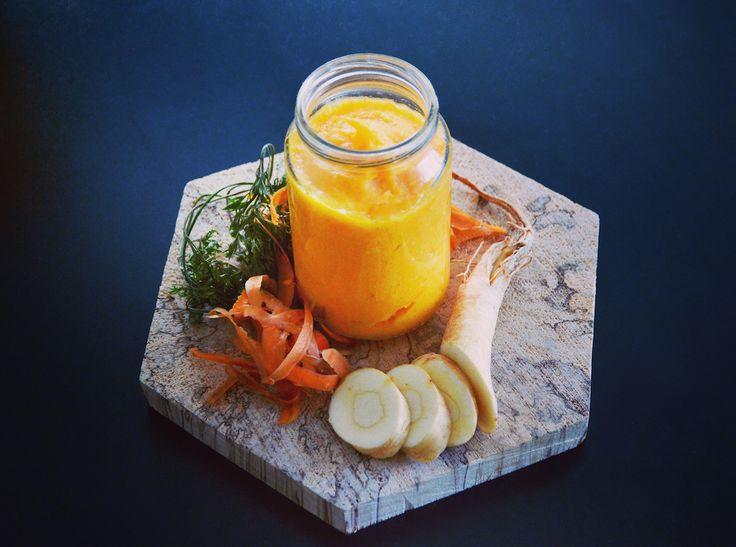 Purée de panais et carotte pour bébé (avec ou sans jambon) (Dès 4 ou 6 mois) on adore les légumes oubliés !