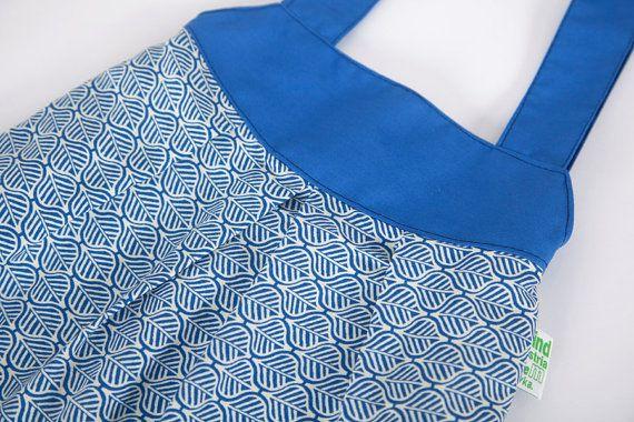 Women handbag BLUE LEAVES handmade retro vintage by LaIndustria