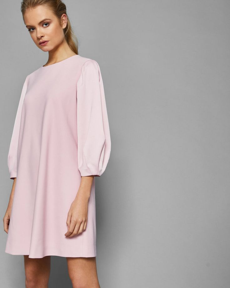 Puff sleeved tunic dress - Dusky Pink | Dresses | Ted Baker UK