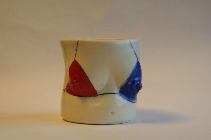 Breast Friend Utensil Pencil Holder | Flower Pot with Boobs | Ceramic Stoneware Patriotic Bikini | Red White & Blue by StudioLederach on Etsy https://www.etsy.com/listing/258862840/breast-friend-utensil-pencil-holder