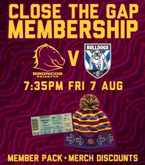 Broncos NRL membership for a game with a free beanie