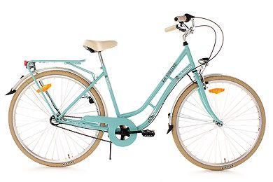 Vélo de ville femme 28''  3 vit. Casino vert TC 54 cm KS Cycling